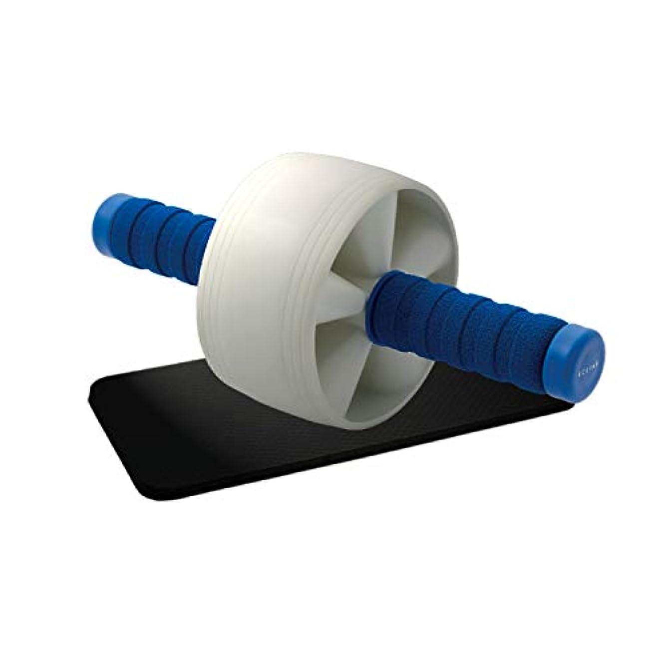湿原招待怪しいエレコム 腹筋ローラー マット付き ハード 静音 エクリアスポーツ ブルー HCF-AR1BU