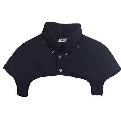 [豊島縫製] 丸洗いできる肩当て 肩温泉 綿100% 袖有り...