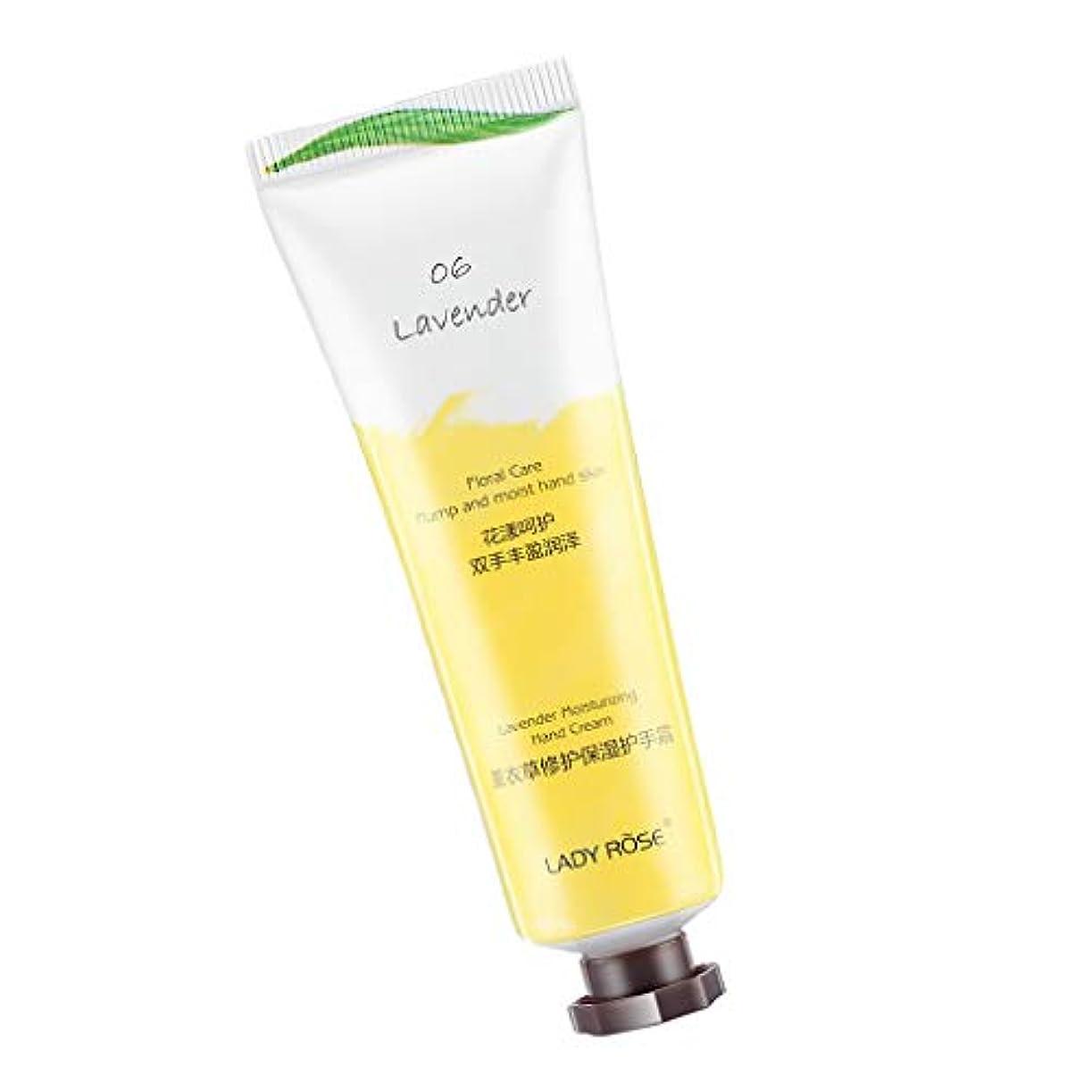含意まどろみのある必需品ハンドクリーム モイスチャー お花の香り 保湿 6タイプ選べ - ラベンダー