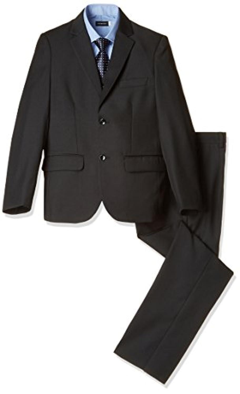 【ボーナヴィータ】 男の子 スーツ ブラック 卒業式 入学式 結婚式 キッズ 黒無地 145 150 155 160 七五三 フォーマル