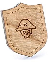 Dead Pirateラペルピン、木製ピンとタイタック|素朴な、ミニマルGroomsmenギフト、ウェディングアクセサリー
