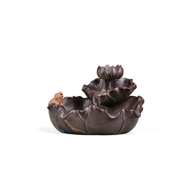 一握り花じゃない芳香器?アロマバーナー セラミック反転香バーナークリエイティブ装飾ロータス白檀香アロマ寒天香バーナーベース禅茶道 アロマバーナー