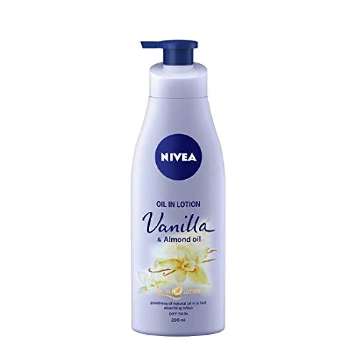 コスチューム樹皮たくさんのNIVEA Oil in Lotion, Vanilla and Almond Oil, 200ml
