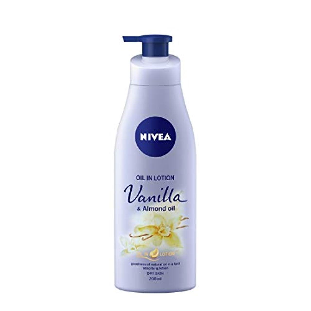 隔離する一晩次NIVEA Oil in Lotion, Vanilla and Almond Oil, 200ml