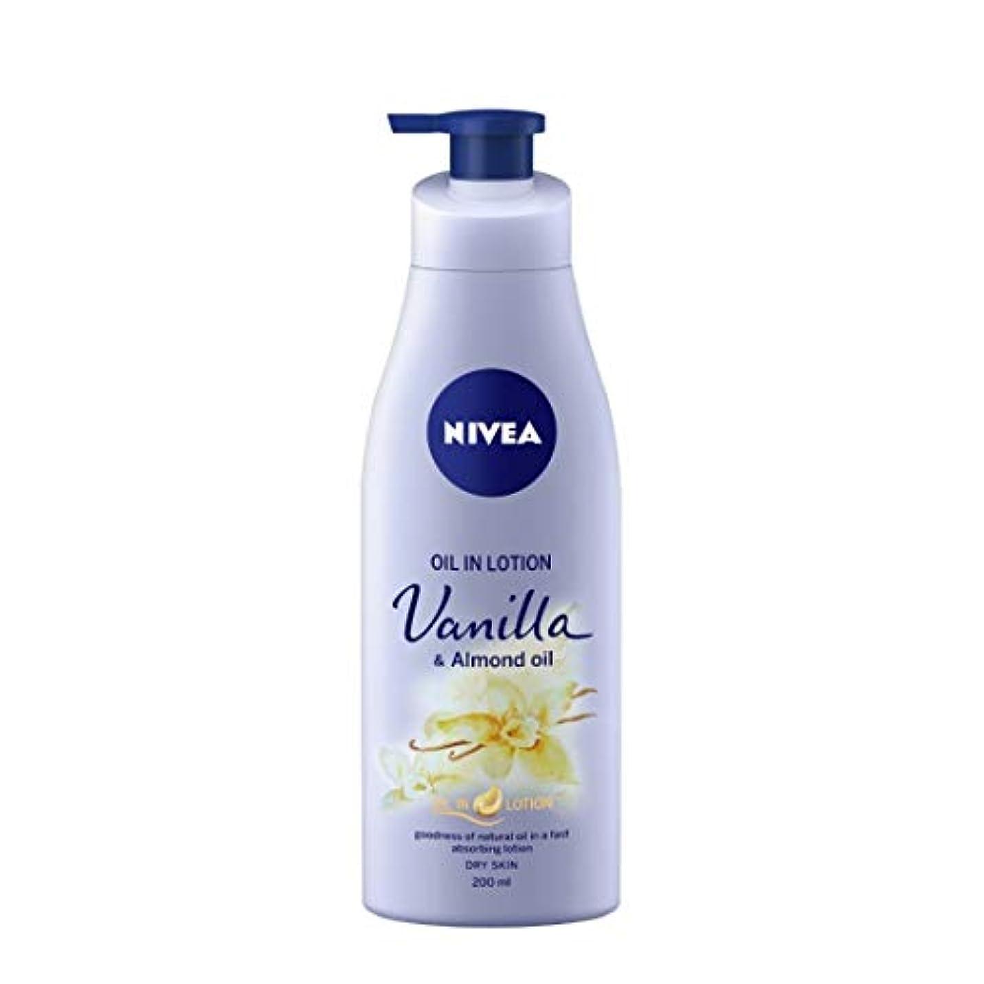 本部ゲーム予想するNIVEA Oil in Lotion, Vanilla and Almond Oil, 200ml