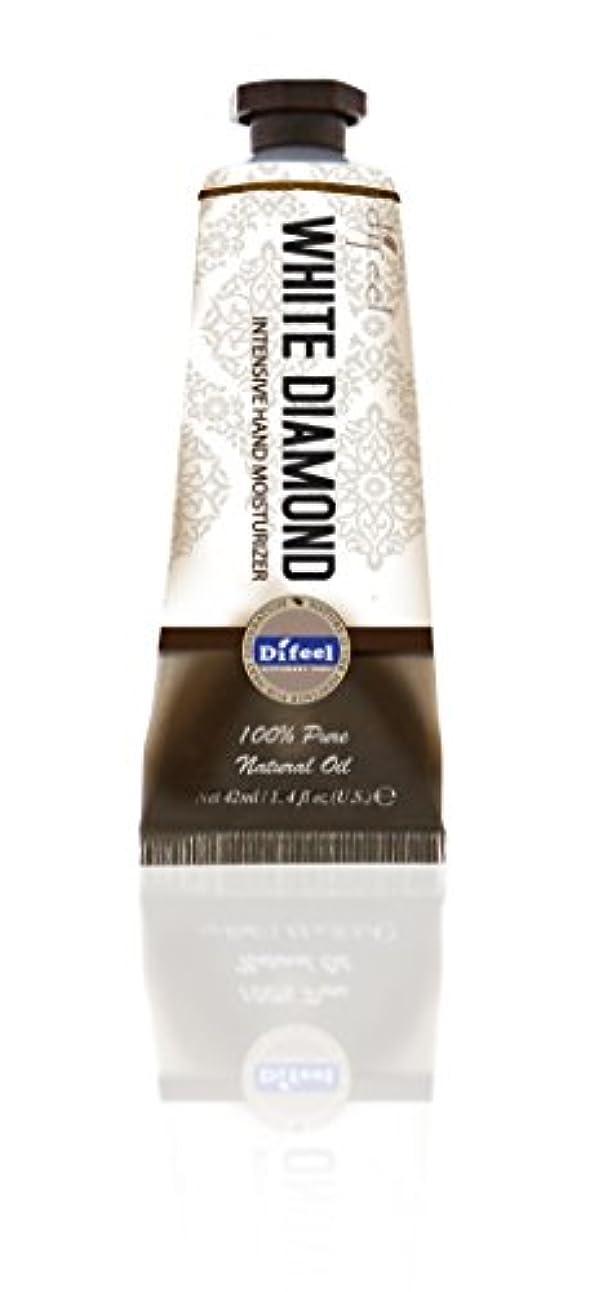 芝生説得力のある水曜日Difeel(ディフィール) ホワイトダイアモンド ナチュラル ハンドクリーム 40g オリエンタルな香り WHITE DIAMOND 17WDMn New York