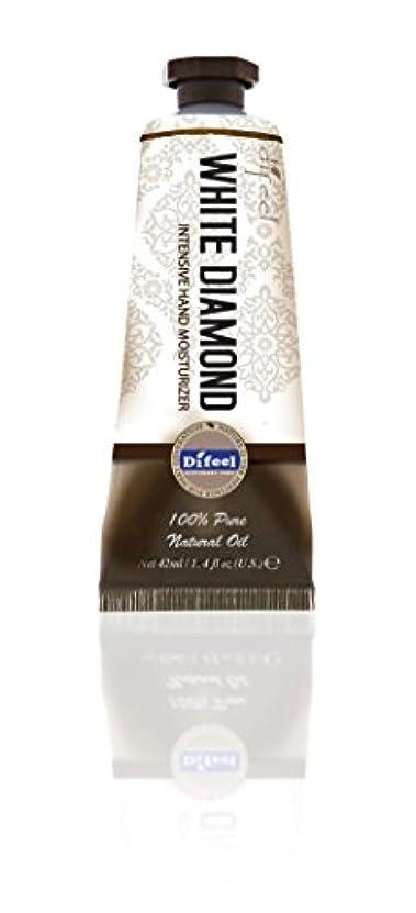若い教育者感嘆Difeel(ディフィール) ホワイトダイアモンド ナチュラル ハンドクリーム 40g オリエンタルな香り WHITE DIAMOND 17WDMn New York