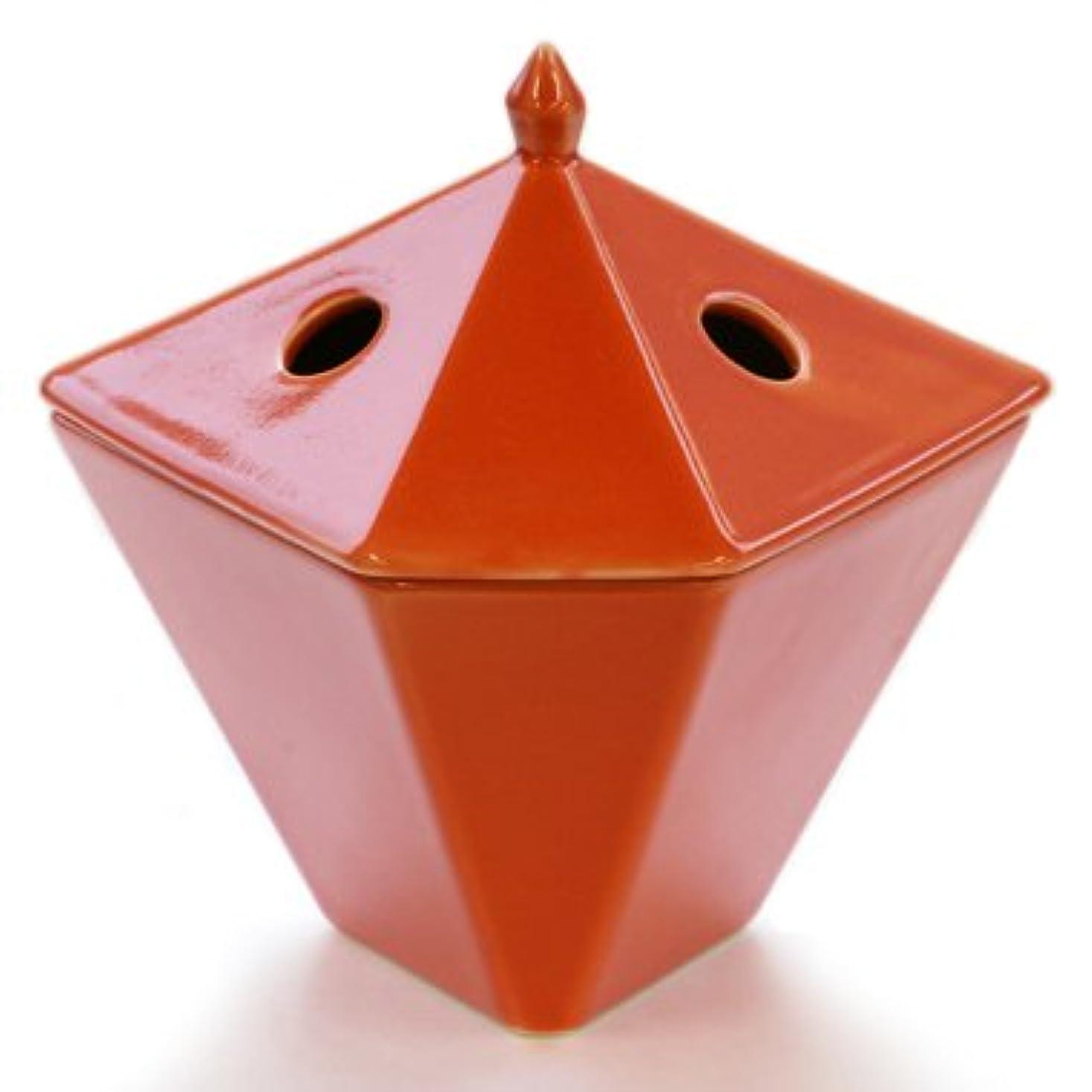 クック養う雪縁香炉 橙