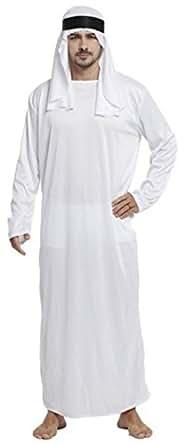 アラビア コスプレ アラブの石油王 カンドゥーラ ターバン セット 無地 白 フリーサイズ