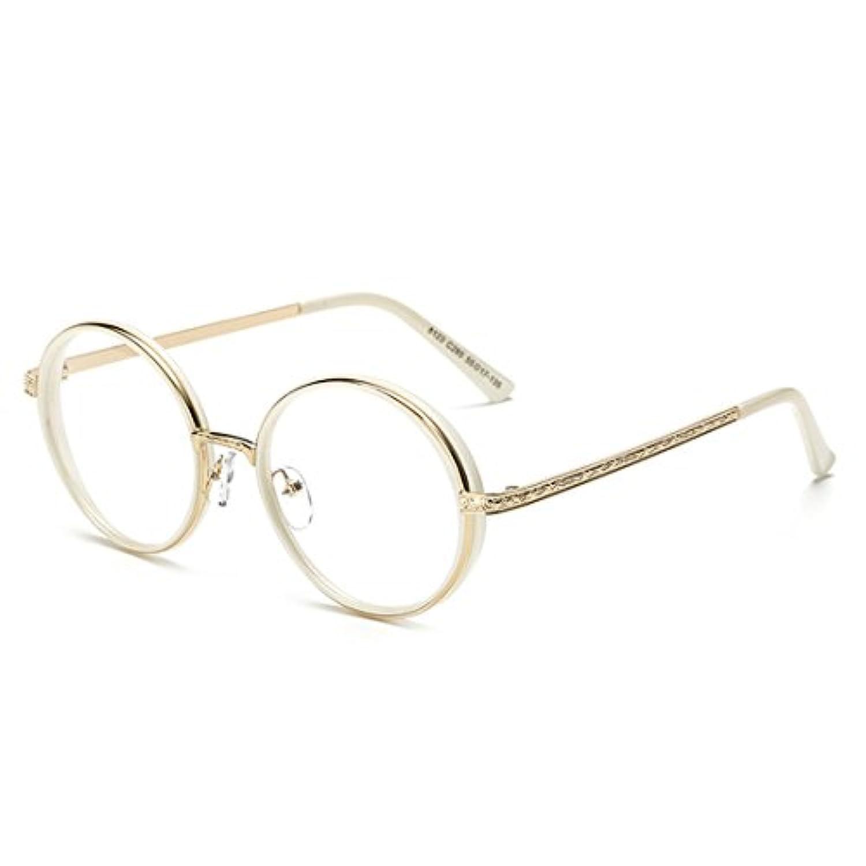 D。Kingラウンドヒップスターラウンドメガネクリアレンズフルフレーム眼鏡for Men and Women