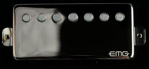 EMG 66-7H Seven String エレキギター Humbucker Pickup Black Chrome エレキギター エレクトリックギター (並行輸入)