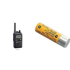 アイコム 特定小電力トランシーバー 47ch中継タイプ ブラック IC-4300 & 充電式電池(ニッケル水素) 1.2V 1900mAh BP-260