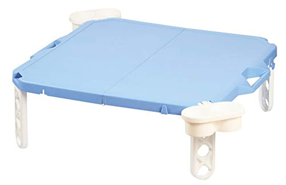 結論パークミントパール金属 ハンディーテーブル ブルー 63×63cm ピクジェネ D-6361