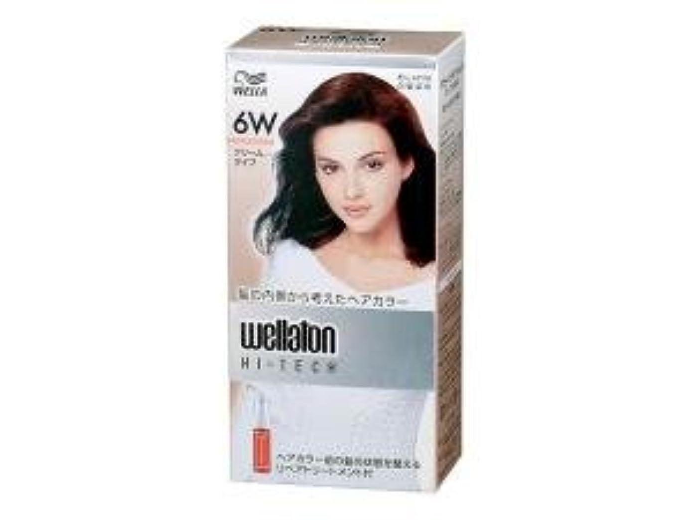 誰あいまいさ微生物【ヘアケア】P&G ウエラトーン ハイテック クリーム 6W 暖かみのある自然な栗色 医薬部外品 白髪染めヘアカラー(女性用)×24点セット (4902565140534)