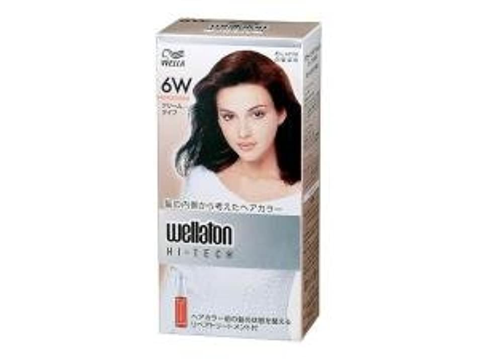エチケット不合格アンソロジー【ヘアケア】P&G ウエラトーン ハイテック クリーム 6W 暖かみのある自然な栗色 医薬部外品 白髪染めヘアカラー(女性用)×24点セット (4902565140534)