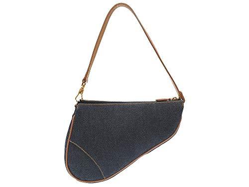 (クリスチャンディオール) Christian Dior サドルポーチ ハンドバッグ デニム レディース 0125 中古
