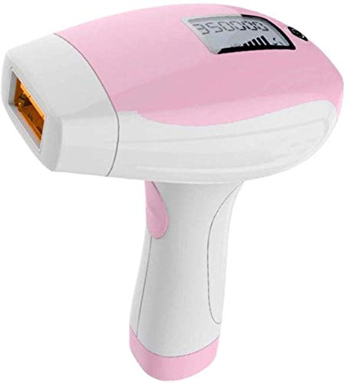 達成森計器HABAIS 脱毛装置、女性と男性のための脱毛システム 400000 点滅 専門職 顔/脇の下/腕/胸/背中/ビキニライン/脚用,Pink