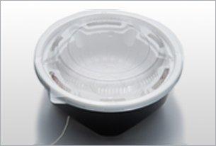 丸丼(5個セット)【※ひもを引っ張るだけで蒸気で温まる弁当箱】丼弁当に最適 kb-1010