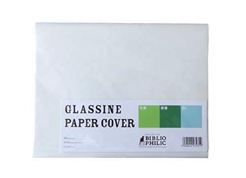glassine paper cover sサイズ 書籍用グラシン紙保護カバー カーリル
