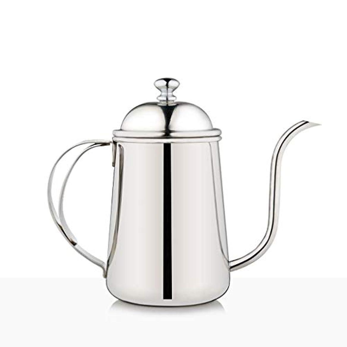 議題バルコニーバンジョーZSQHD ハンドコーヒーメーカー、ファインマウスポット、ステンレススチール家庭用ロング口ドリップコーヒーメーカー (色 : シルバー しるば゜)