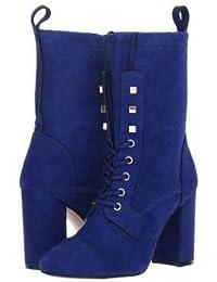 Stuart Weitzman(スチュアートワイツマン) レディース 女性用 シューズ 靴 ブーツ レースアップブーツ Veruka - Blue Violet Suede [並行輸入品]