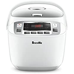 Breville LRC480WHT The Smart Rice Box Cooker, White