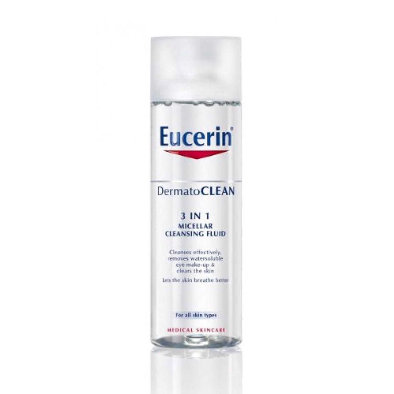 誇張散歩アラートEucerin Dermatoclean 3in1 Micellar Cleansing Fluid 200ml [並行輸入品]