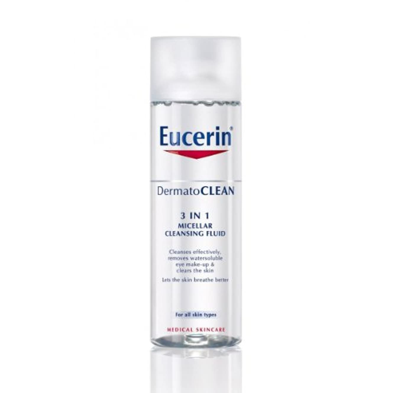管理征服ゆるいEucerin Dermatoclean 3in1 Micellar Cleansing Fluid 200ml [並行輸入品]