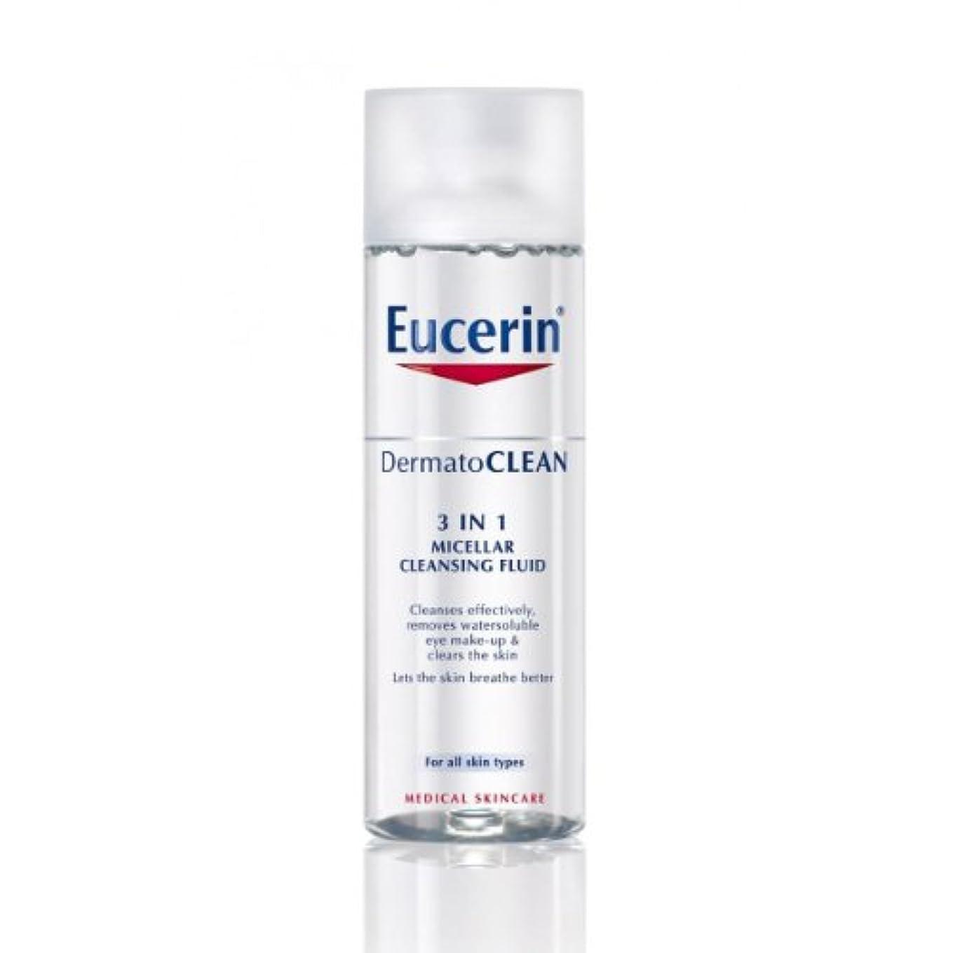アークよろめく平行Eucerin Dermatoclean 3in1 Micellar Cleansing Fluid 200ml [並行輸入品]