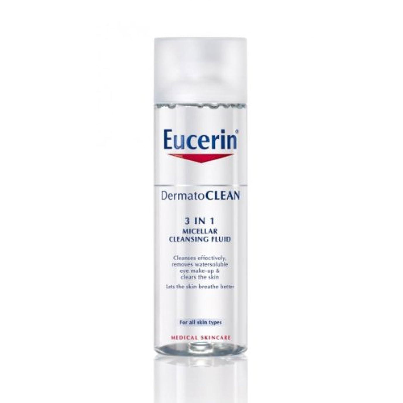罪伝説支配するEucerin Dermatoclean 3in1 Micellar Cleansing Fluid 200ml [並行輸入品]