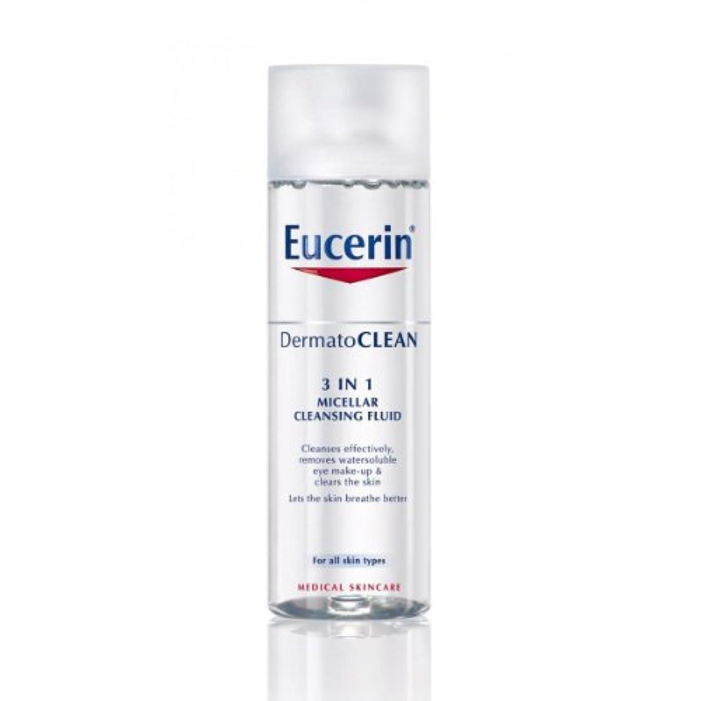 一貫性のないかき混ぜるマウンドEucerin Dermatoclean 3in1 Micellar Cleansing Fluid 200ml [並行輸入品]