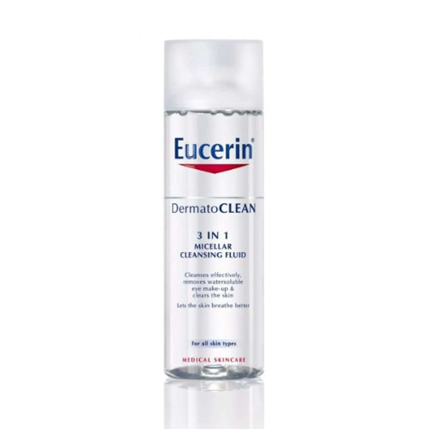 調停者階下複雑Eucerin Dermatoclean 3in1 Micellar Cleansing Fluid 200ml [並行輸入品]