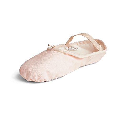 【サンシャ製】フルソール布製バレエシューズ<4C> M幅(標準幅) ピンク EM(19.0cm)