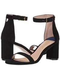 Stuart Weitzman(スチュアートワイツマン) レディース 女性用 シューズ 靴 ヒール 75lessnudist - Black Suede [並行輸入品]