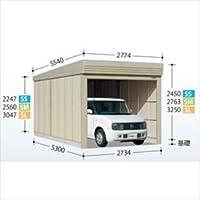 タクボガレージ ベルフォーマ SM-2753 一般型 標準型 【シャッター車庫 ガレージ】  ムーンホワイト