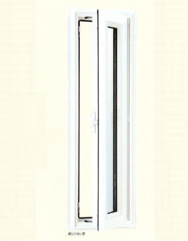 エクセルシャノン樹脂サッシ アクセントサッシシリーズ 外観色 クラシックブラック 内観色 ホワイト 縦すべり出し窓(単窓) CWE6P-03105RKANJ 外観 右吊元 透明ガラス(4mm+A12+3mm)