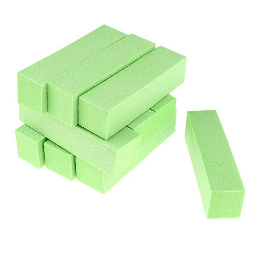 衝突する怪しいボトルネックToygogo 両面ネイルバッファーネイルシャイナースポンジネイルファイルサンディングブロック-ソフト&シルキー、10個-作成された滑らかで美しいネイル - 緑