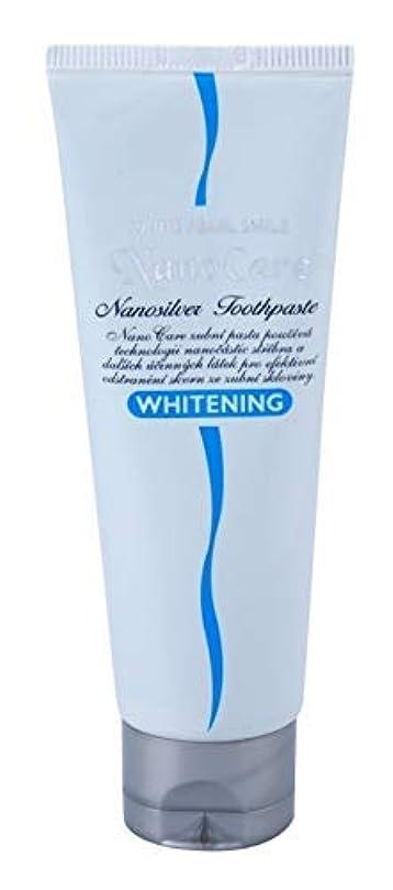小さいトランザクション顕微鏡Nano Care Silver Whitening Toothpaste with colloidal silver 100 ml Made in Korea / コロイド銀100ミリリットルのナノケアシルバーホワイトニング...