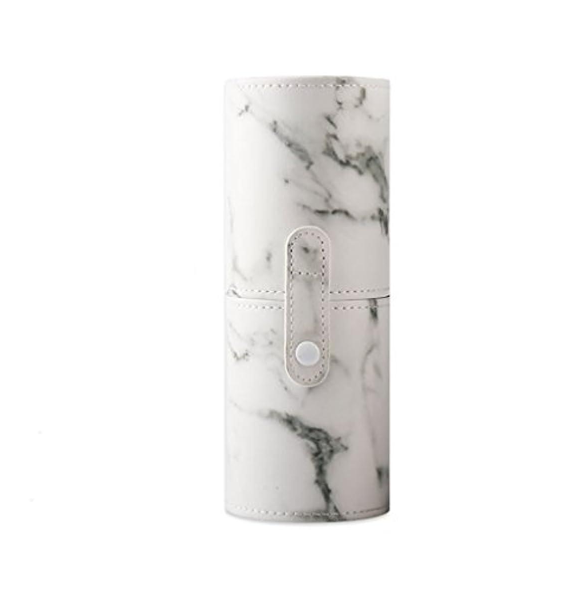 ガラスもっともらしい有罪KINGZUO メイクブラシホルダー 専用収納 コスメケース ボックス 文具ケース PUレザー 旅行 小物収納 携帯便利 化粧カップ  約12本収納