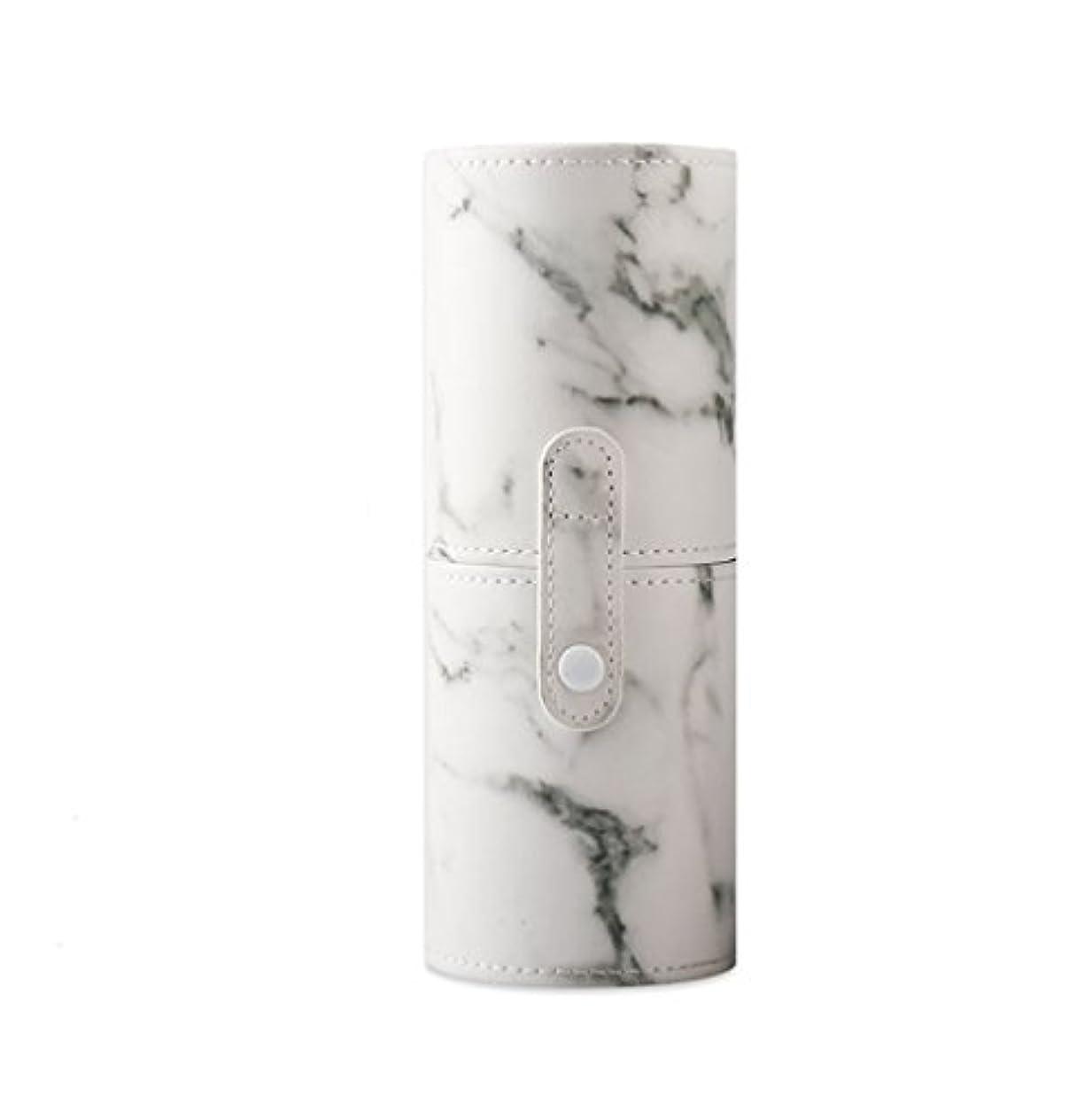遅滞低い適応KINGZUO メイクブラシホルダー 専用収納 コスメケース ボックス 文具ケース PUレザー 旅行 小物収納 携帯便利 化粧カップ  約12本収納
