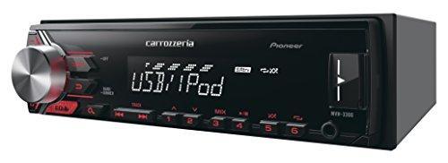 カロッツェリア(パイオニア) カーオーディオ MVH-3300 1DIN USB
