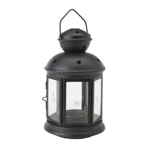 IKEA イケア ROTERA ティーライト用ランタン(ブラック) (301.431.87)