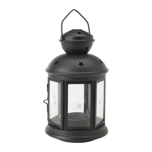 ROTERA ティーライト用ランタン, ブラック 室内/屋外用 ブラック, 21 cm