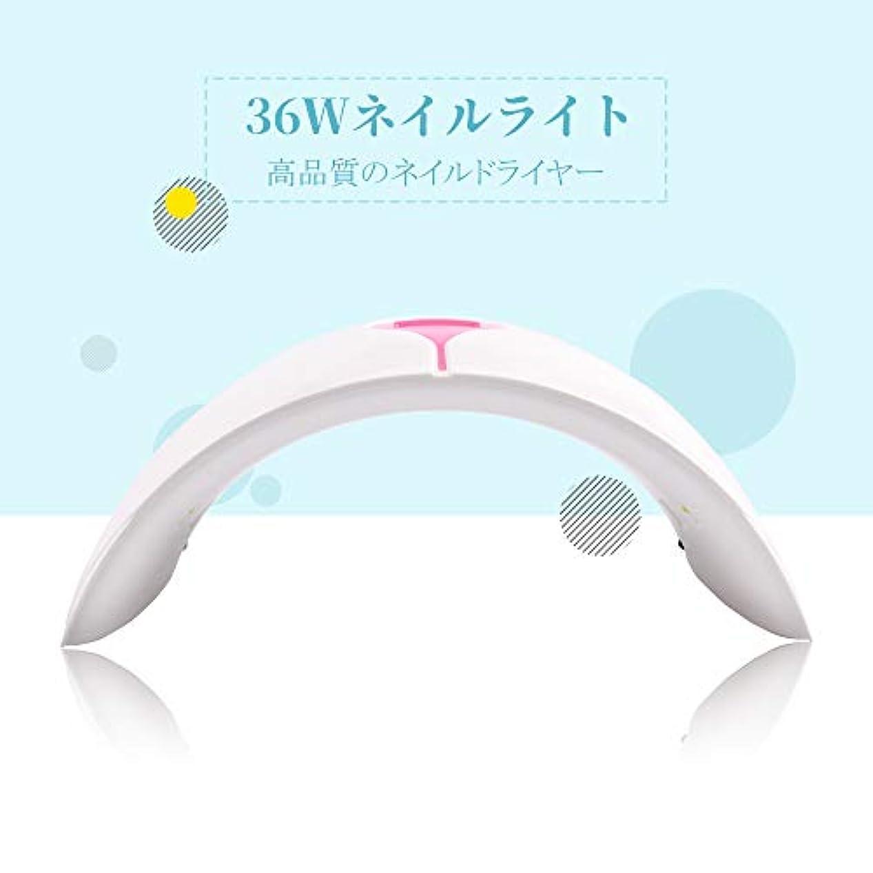 結論オープナー不器用PHOENIXY 36Wネイルライト 人感センサー LED/UVライト 15pcs UVライト 硬化用ネイルランプ すべてのゲルに対応 プラグ付き ネイルドライヤー ネイルアート用品