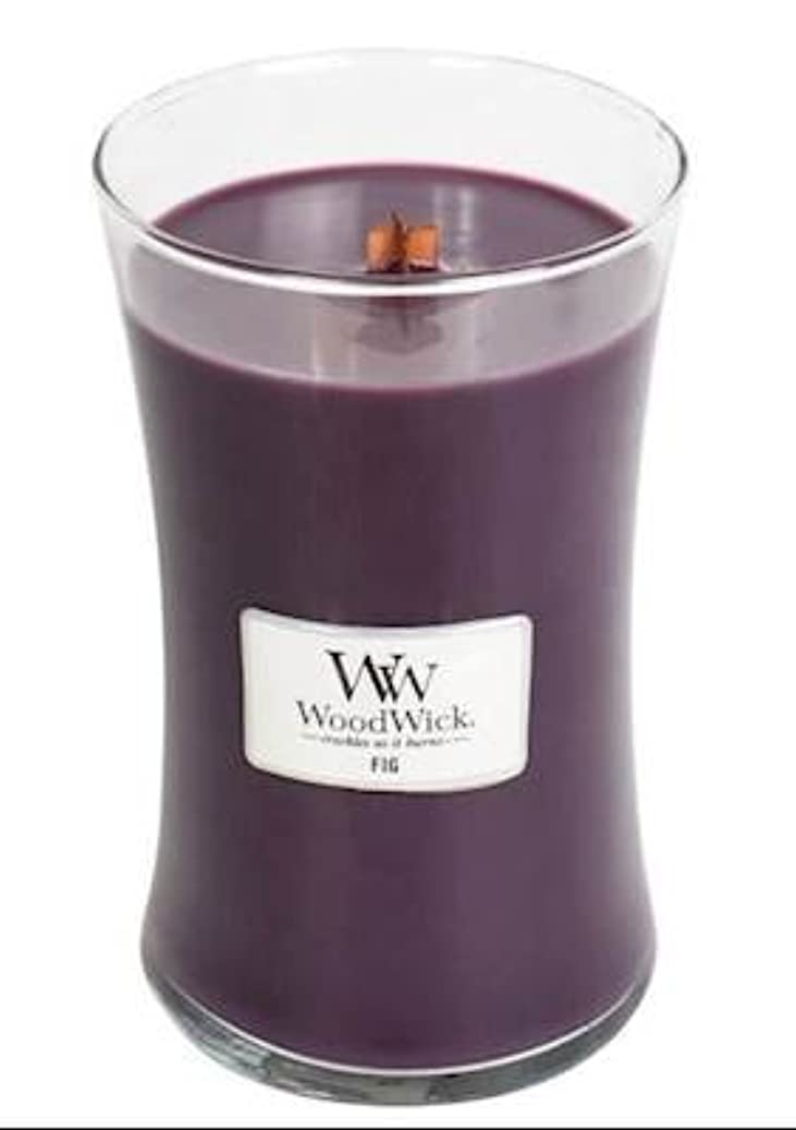 おしゃれじゃない勧告実り多いFig – WoodWick 22oz Medium Jar Candle Burns 180時間
