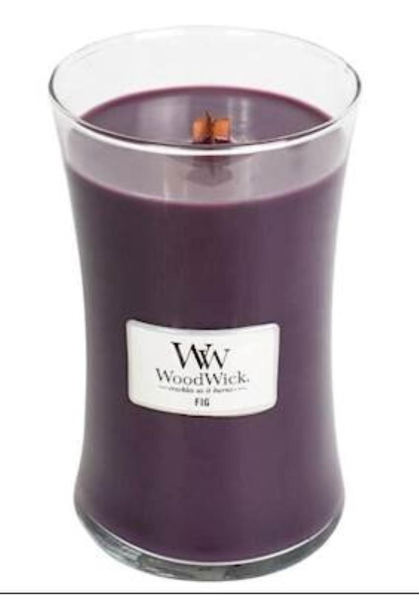 交渉するリーズ駅Fig – WoodWick 22oz Medium Jar Candle Burns 180時間