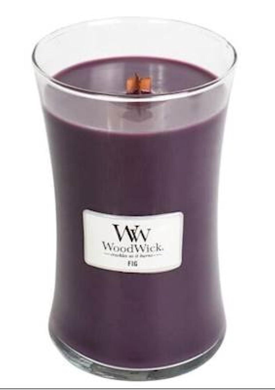 Fig – WoodWick 22oz Medium Jar Candle Burns 180時間