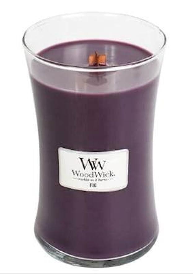 不公平どこにでもウッズFig – WoodWick 22oz Medium Jar Candle Burns 180時間