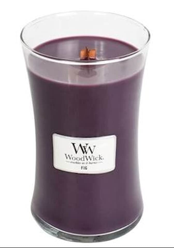 鉛筆現れる通常Fig – WoodWick 22oz Medium Jar Candle Burns 180時間