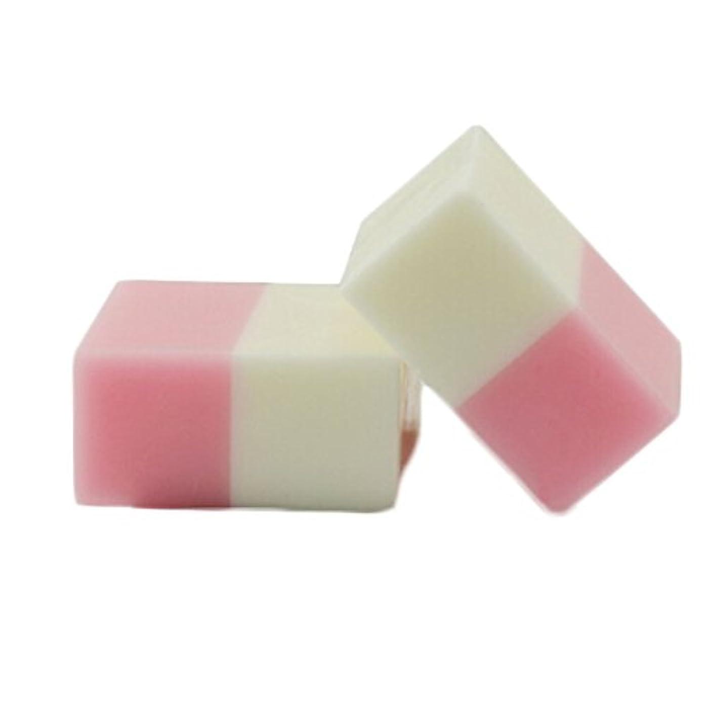 の配列踏みつけライムTerGOOSE 石鹸 無添加 固形せっけん 洗顔 美白 ローズ+ミルク 100g